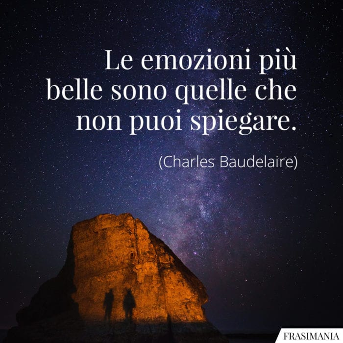 Frasi emozioni Baudelaire