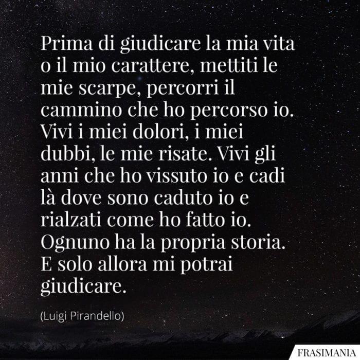 Frasi giudicare vita Pirandello