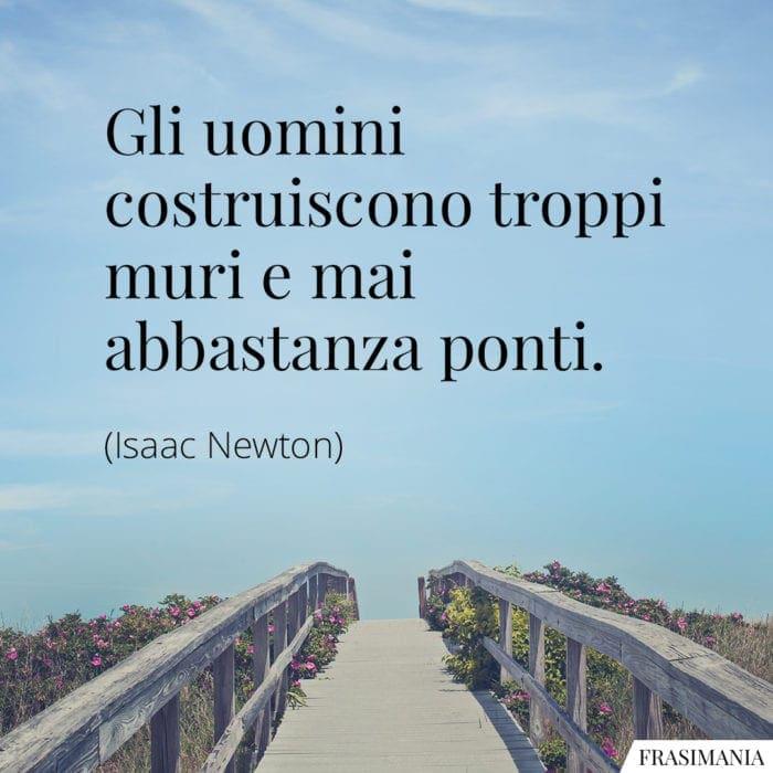Frasi muri ponti Newton