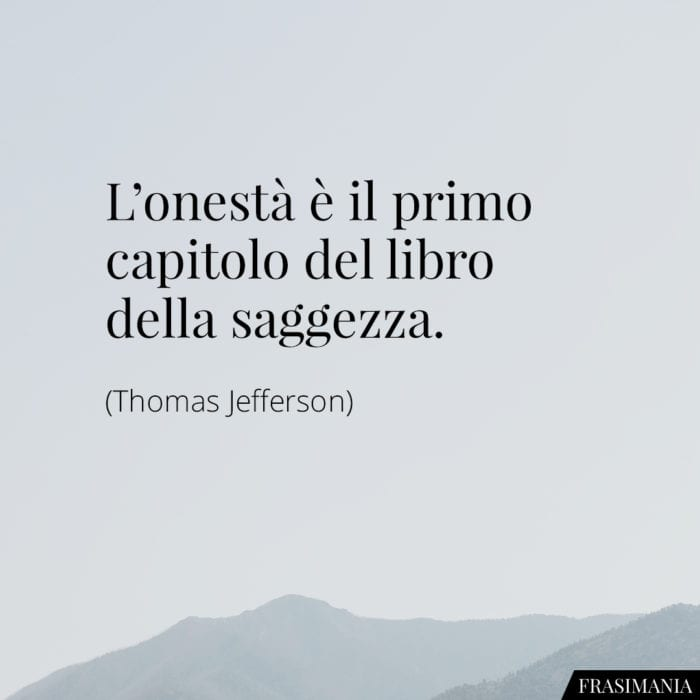 Frasi onestà saggezza Jefferson