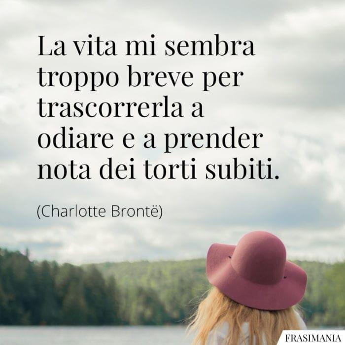 Frasi vita breve odiare Brontë