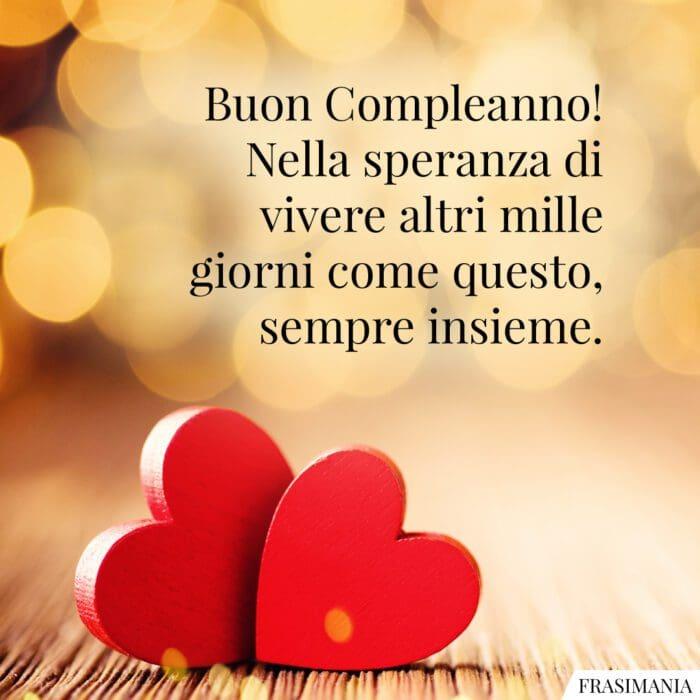 Frasi auguri buon compleanno amore insieme