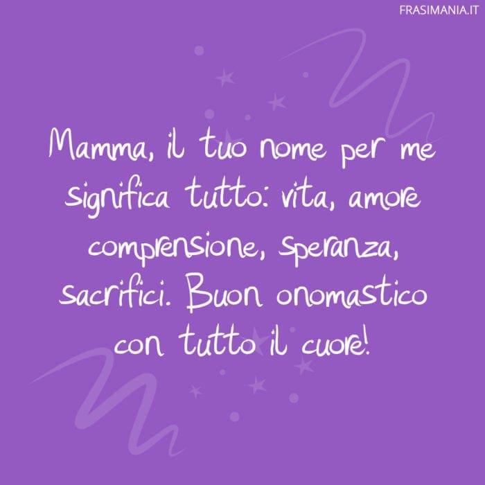 Frasi onomastico mamma cuore