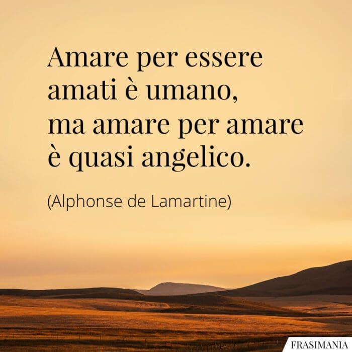Frasi amare amati angelico Lamartine