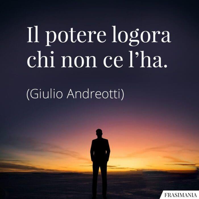 Frasi potere logora Andreotti