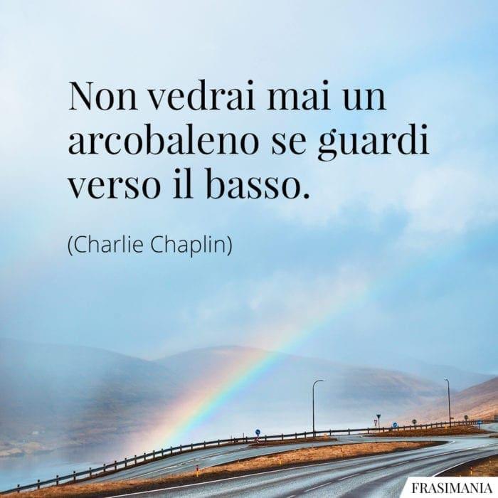 Frasi arcobaleno basso Chaplin