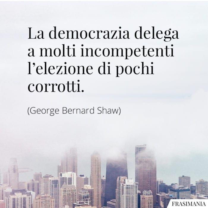 Frasi democrazia Shaw