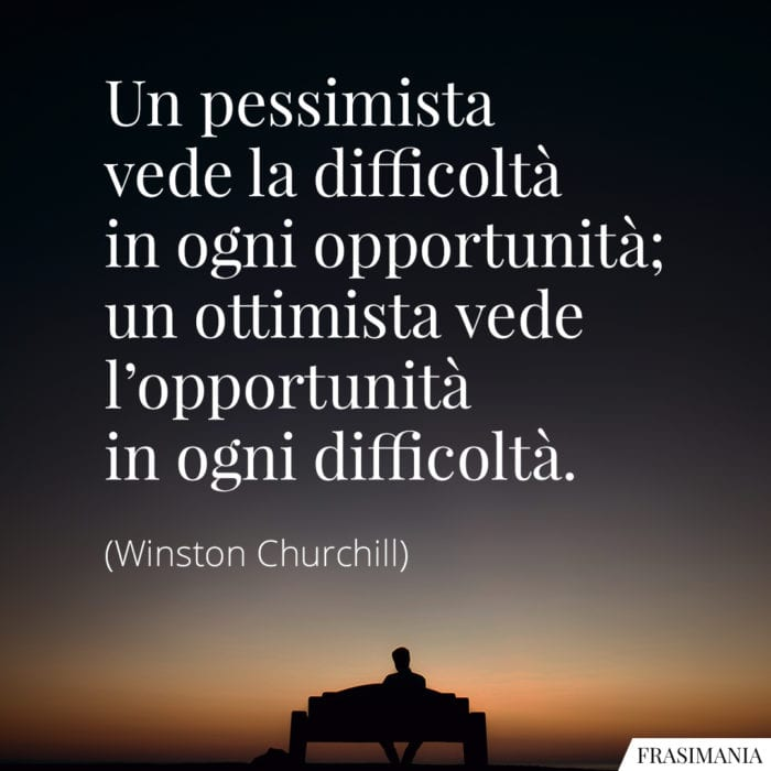 Frasi pessimista ottimista Churchill