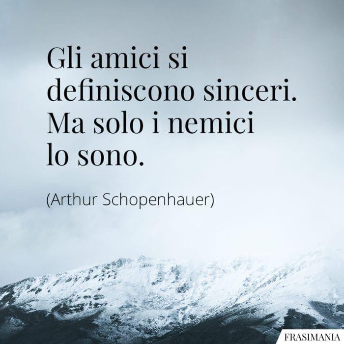 Frasi amici sinceri nemici Schopenhauer