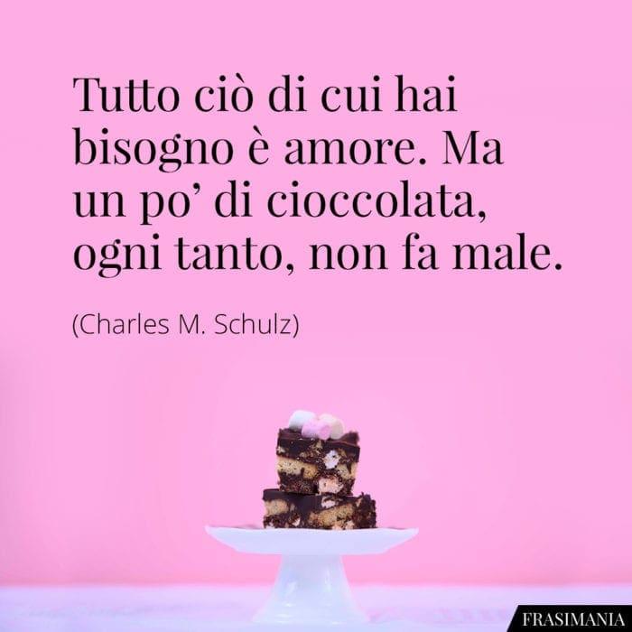 Frasi amore cioccolata Schulz
