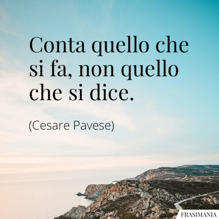 Frasi conta fa dice Pavese