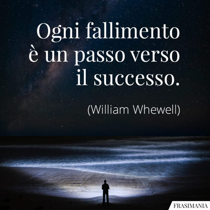 Frasi fallimento successo Whewell