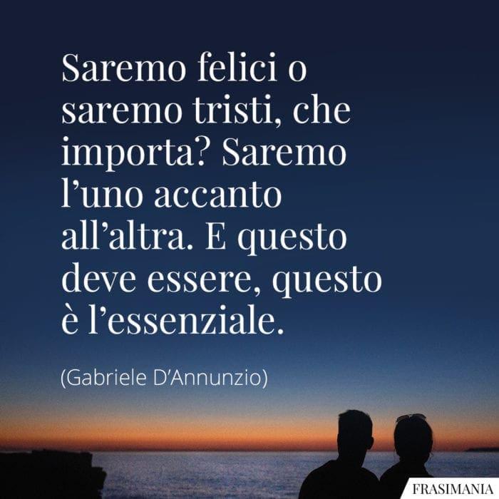 Frasi felici tristi D'Annunzio