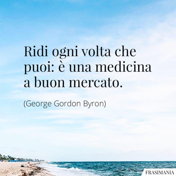 Frasi ridi medicina Byron