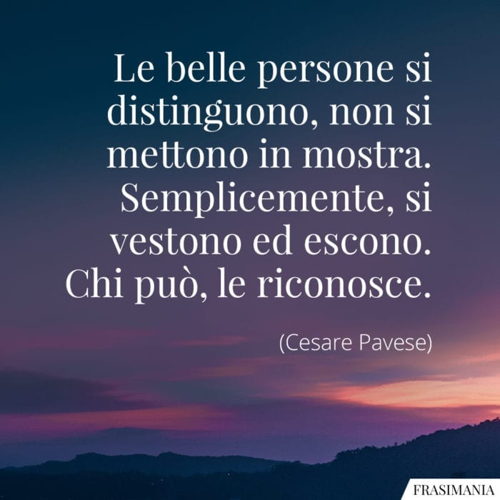 Frasi belle persone Pavese