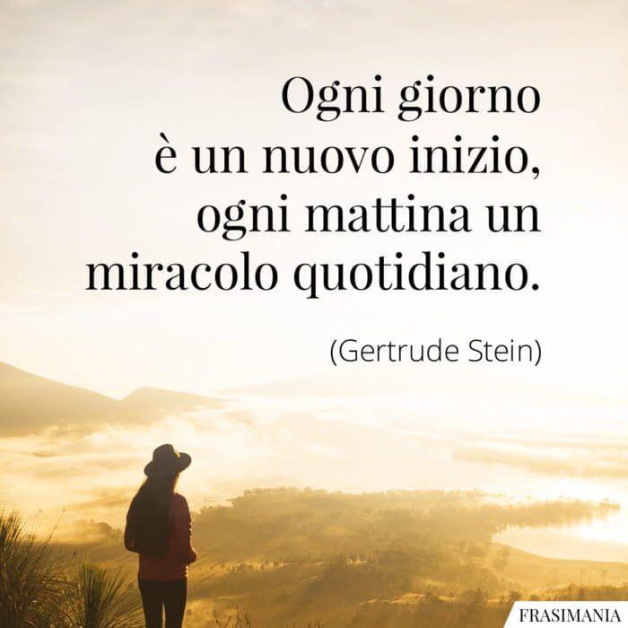 Frasi mattina miracolo Stein