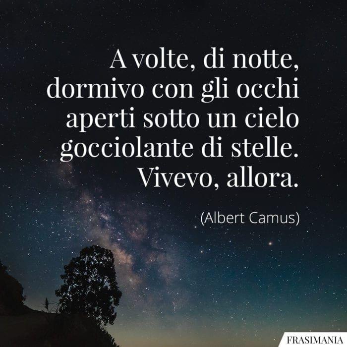 Frasi notte stelle Camus