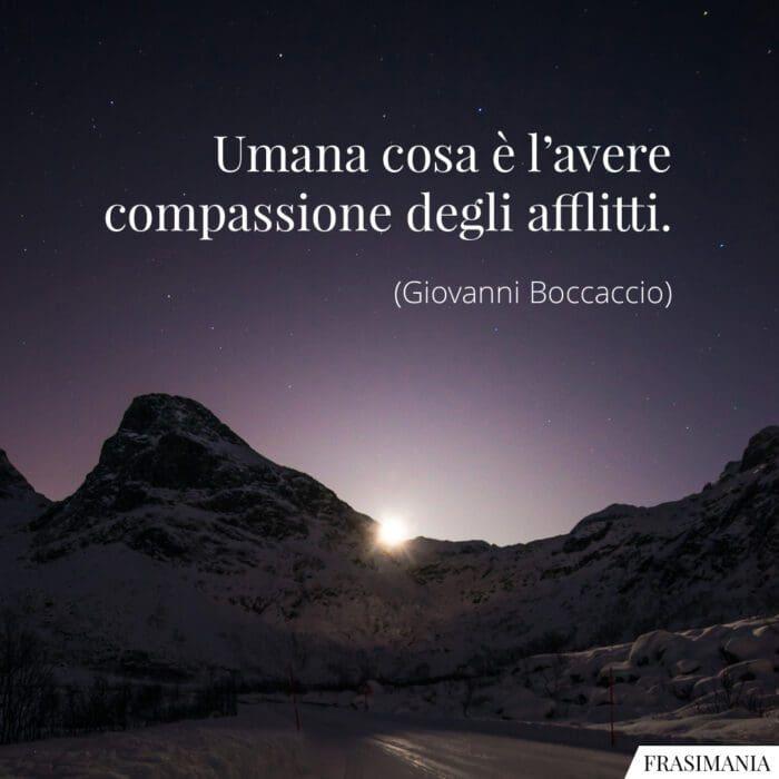 Frasi compassione afflitti Boccaccio