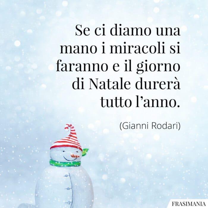 Frasi diamo mano Natale Rodari