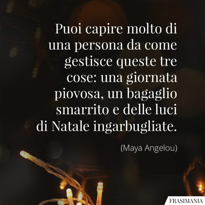 Frasi persona luci Natale Angelou