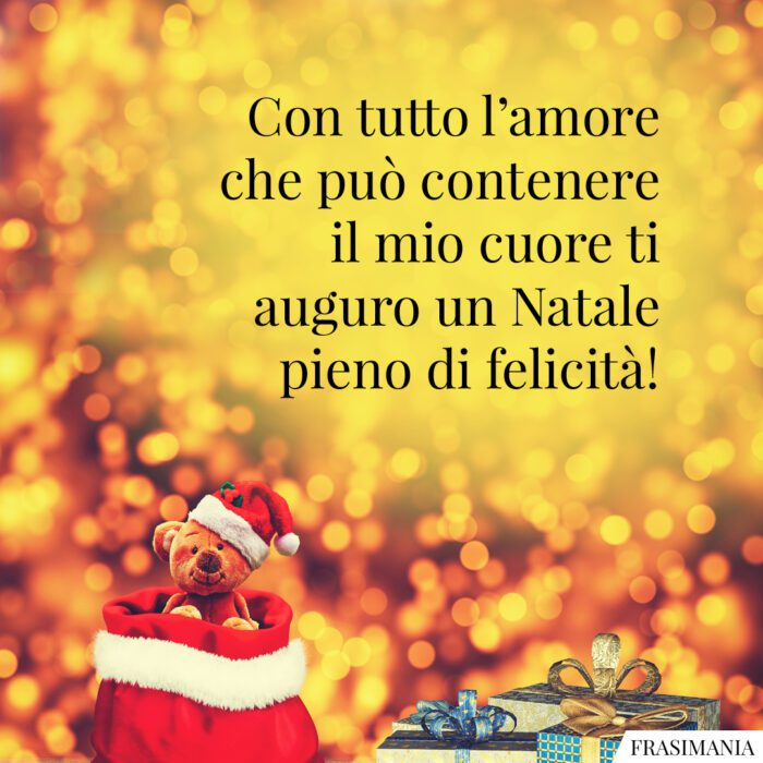 Auguri Buon Natale felicità