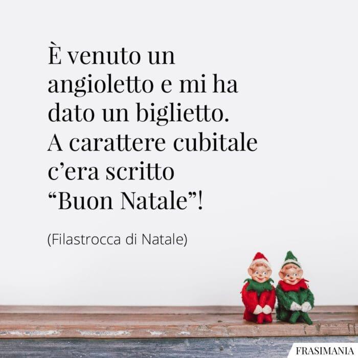 Auguri buon Natale frasi angioletto
