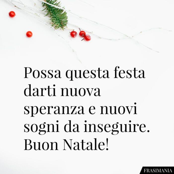 Auguri buon Natale frasi speranza