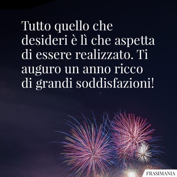 Frasi auguri buon anno desideri
