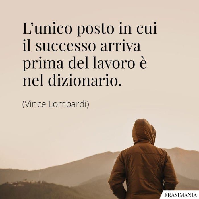 Frasi successo lavoro dizionario Lombardi