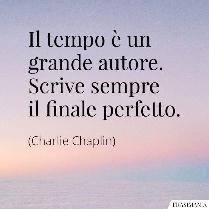 Frasi tempo autore finale Chaplin