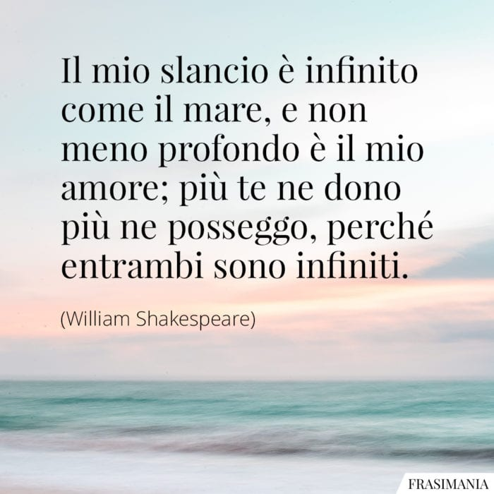 Frasi mare amore Shakespeare