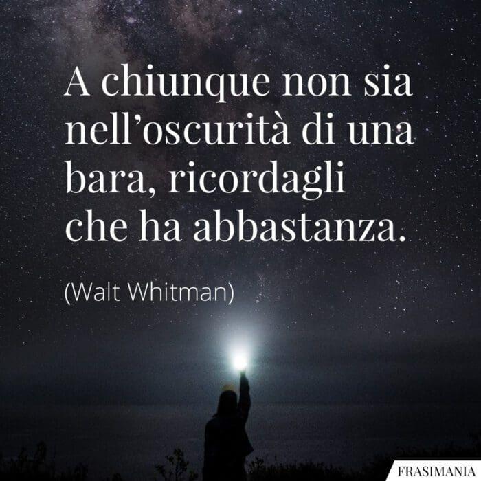 Frasi oscurità bara Whitman