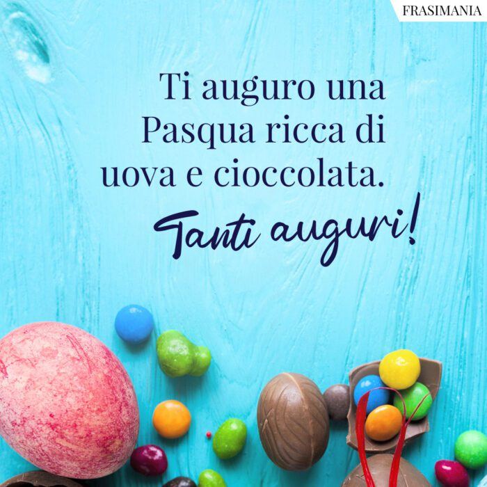 Frasi auguri Pasqua bambini cioccolata