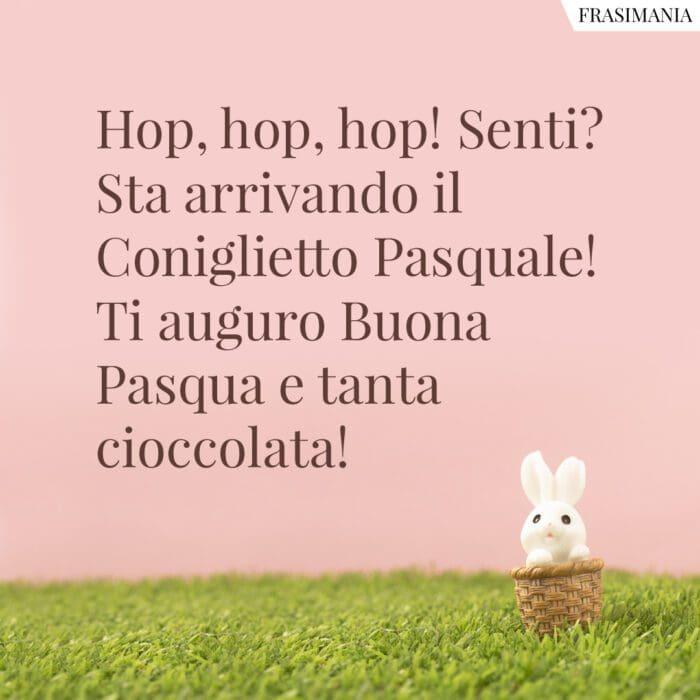 Frasi auguri Pasqua bambini coniglietto