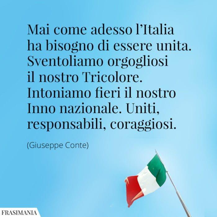 Frasi Italia unita Conte