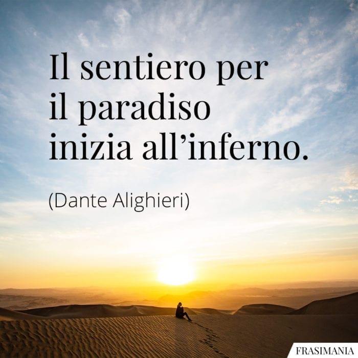 Frasi sentiero paradiso inferno Dante Alighieri