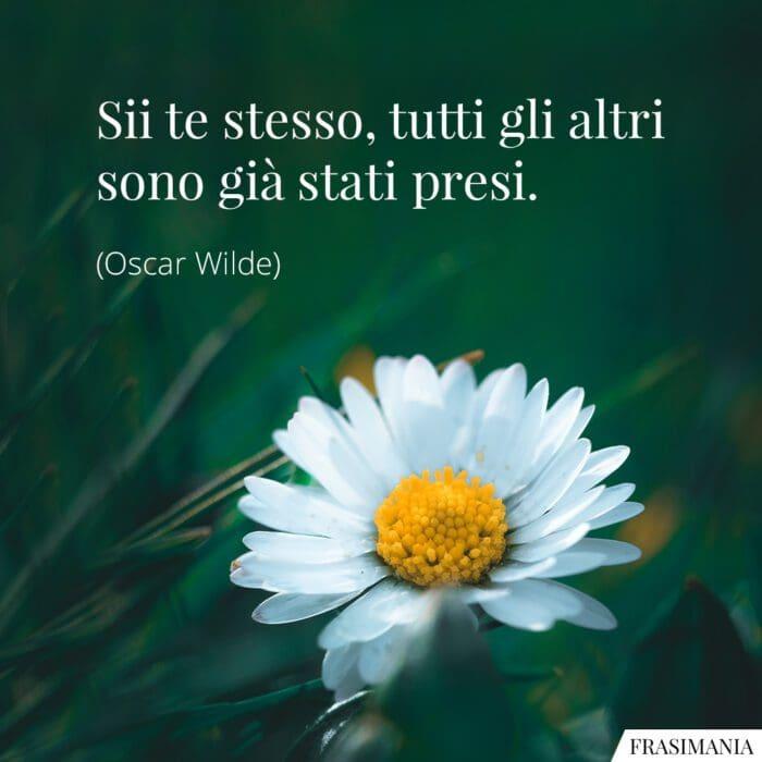 Frasi sii te stesso Wilde