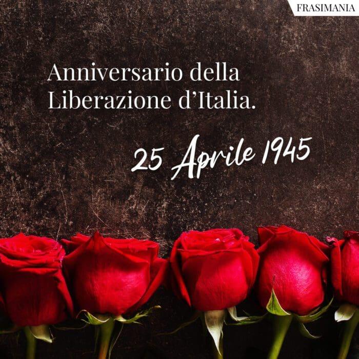 Auguri 25 aprile anniversario