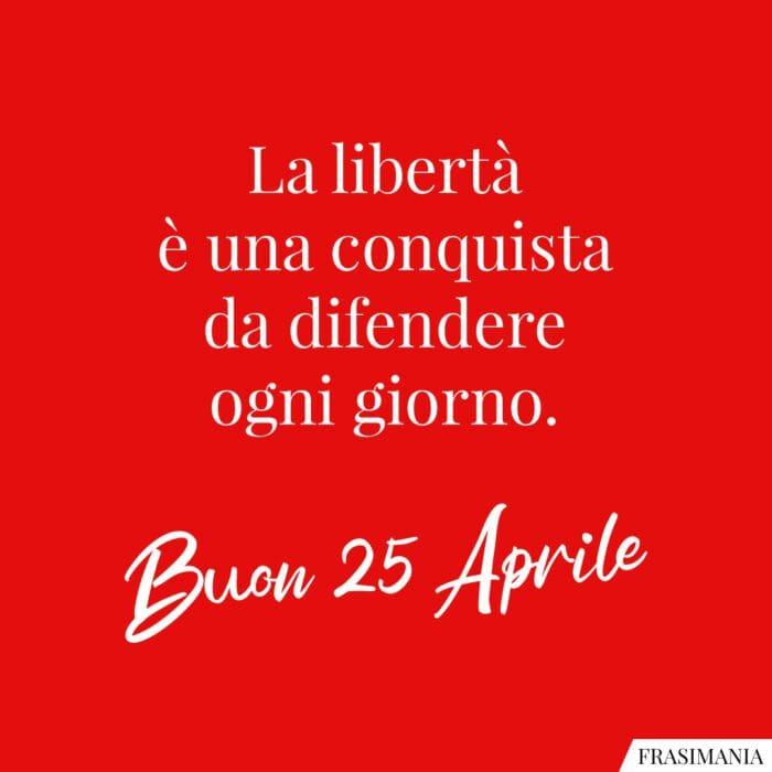 Buon 25 aprile libertà