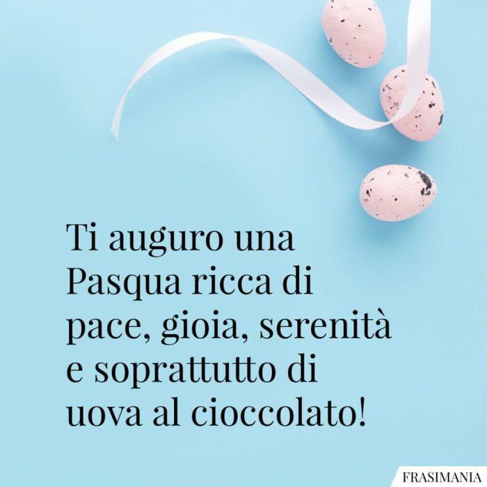 Frasi auguri Pasqua cioccolato
