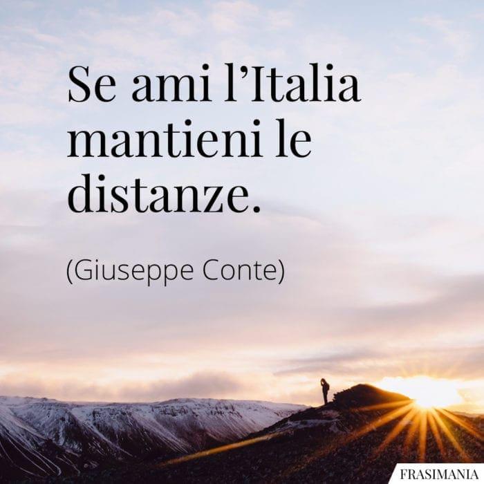 Frasi Italia mantieni distanze Conte