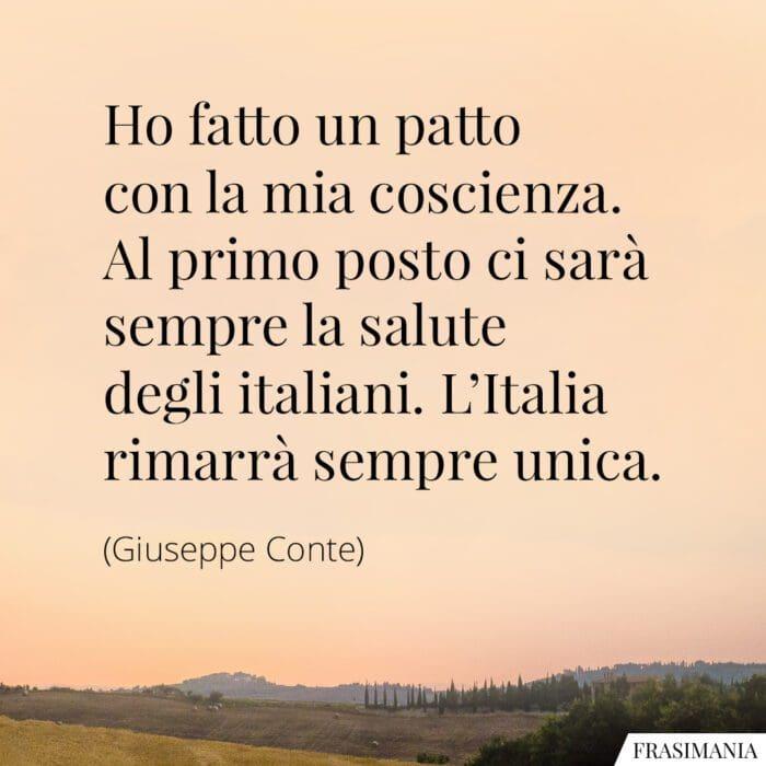 Frasi salute italiani Conte