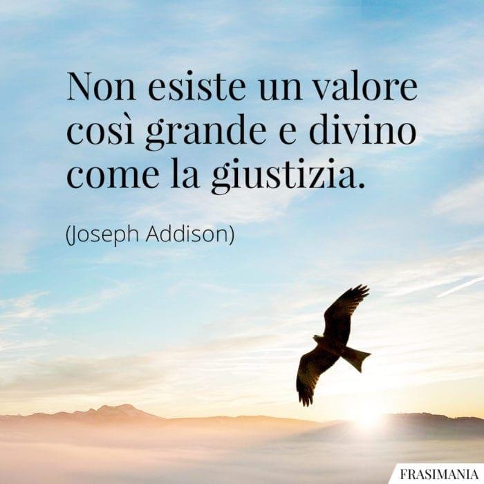 Frasi valore giustizia Addison