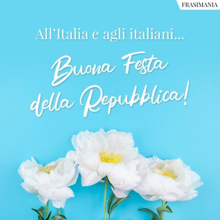 Festa repubblica 2 giugno auguri Italia