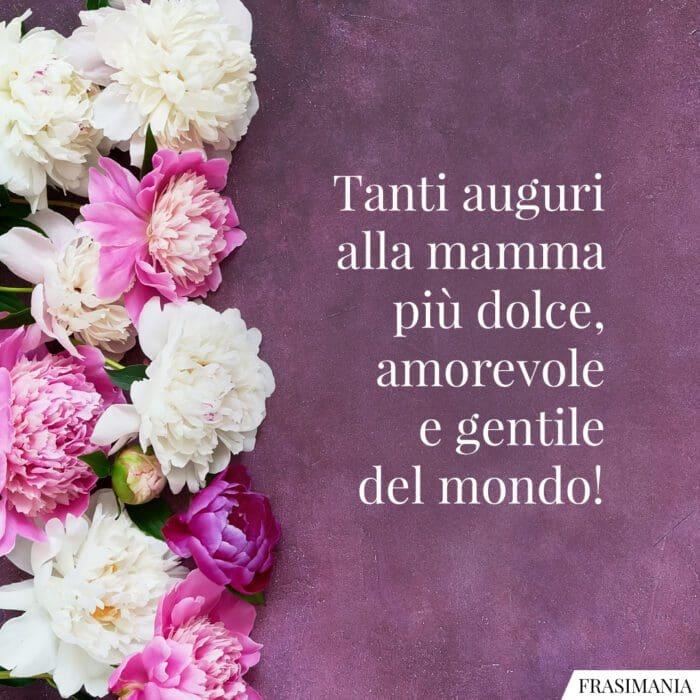 Frasi auguri festa mamma dolce