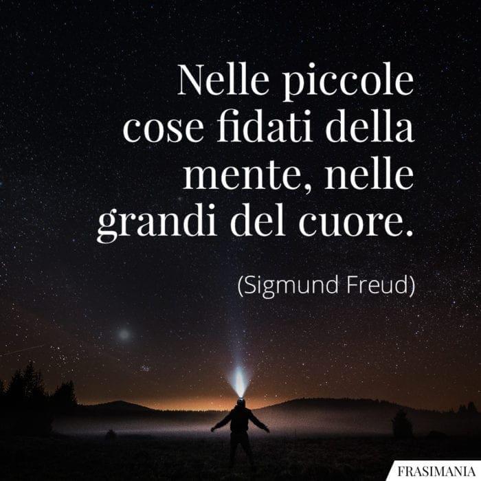 Frasi fidati mente cuore Freud