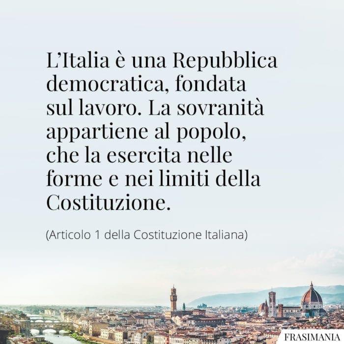 Frasi Italia Repubblica costituzione
