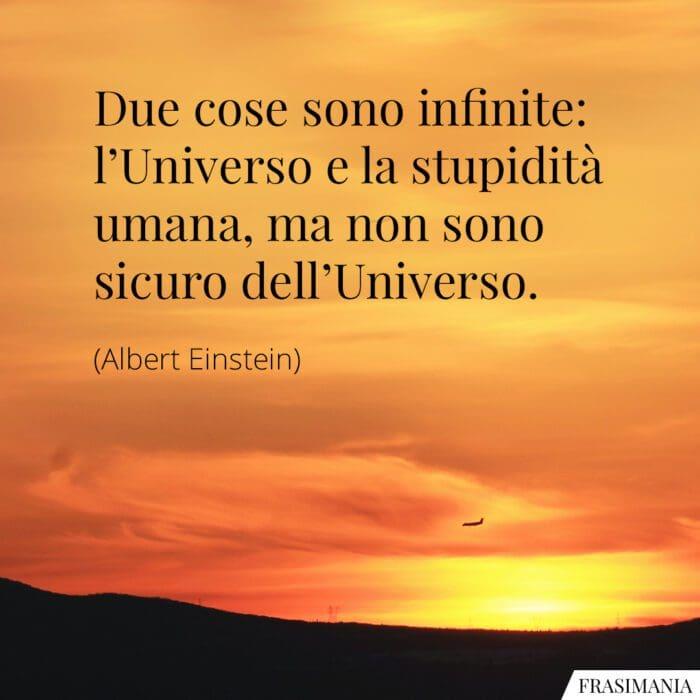 Frasi stupidità Universo Einstein