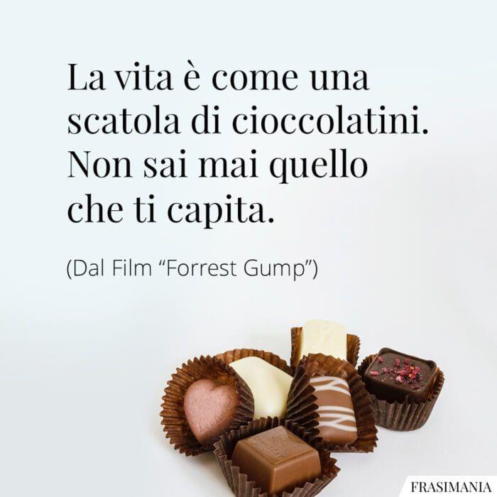 Frasi vita cioccolatini Forrest Gump