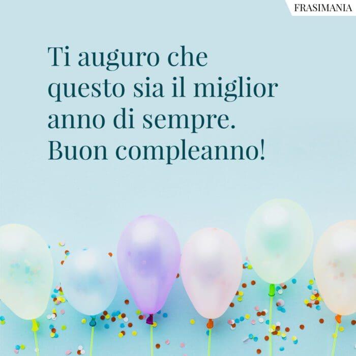 Frasi auguri buon compleanno anno
